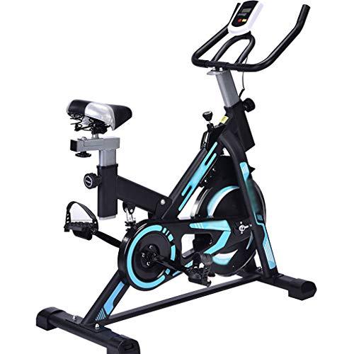 YHRJ Bicicleta de Spinning para Gimnasio en casa,Bicicletas Deportivas con Instrumentos electrónicos,Equipo Deportivo de Bicicleta estática Ajustable,Puede soportar 120 kg