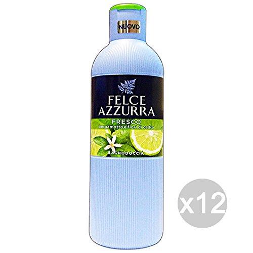 Lot 12 fougère bleue bain frais Bergamote/cèdre 650 ml produit bain et douche
