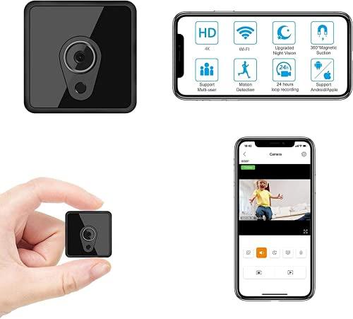 Jayol Mini Spy WiFi, 1080P Hidden Camera Upgraded Night...