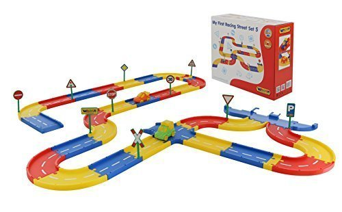 Wader Quality Toys Spielstraßen (5 Meter) Ergänzungs-Set, 46-TLG.