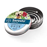 Seresto Flea and Tick Collar for Dogs, 8-Month Tick and Flea Control for Dogs...