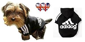 Adidog, Hoodie de chien, chien de sport, taille à partir de (S à 8XL) et 2 couleurs (rouge-noir)