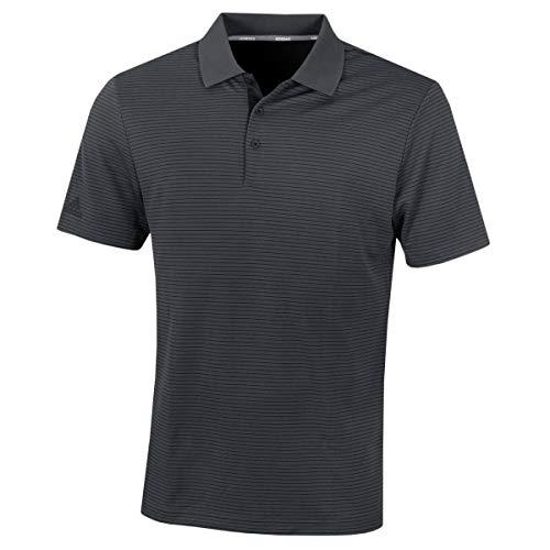 adidas Performance Stripe Polo Shirt, Hombre, Negro, L