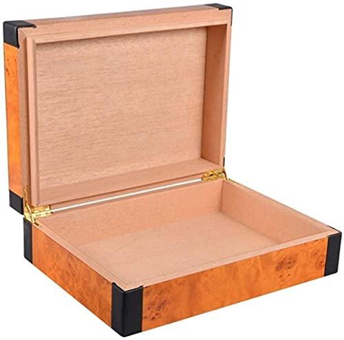 GAOYINMEI Cave Cigare Humidor Paquet rétro en Cuir Portable Mono-vieillissement de cèdre de Cigare humidore