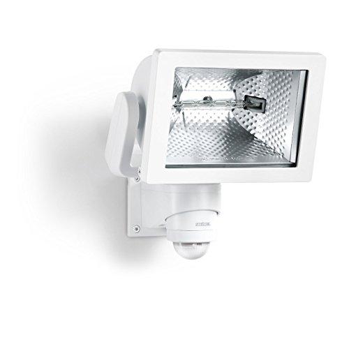 Steinel HS 500 Blanc - Projecteur halogène à détection infrarouge, lampe pour extérieur avec détecteur de mouvement 240°