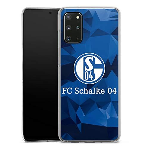 DeinDesign Hard Case kompatibel mit Samsung Galaxy S20 Plus Schutzhülle transparent Smartphone Backcover FC Schalke 04 Muster Offizielles Lizenzprodukt