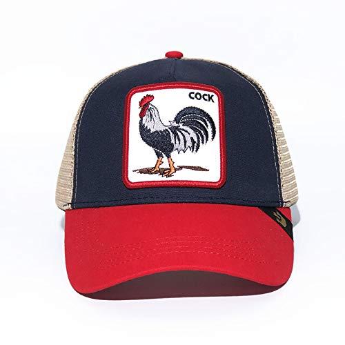 sdssup Adler Bestickte Baseballmütze Cap Bend Cap Rooster Blau Rot Einstellbar