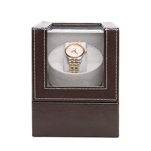 TEHWDE Watch Winder Box van Silenzio Box Tranquillo Motor met accu Esporre Box Singolo Automatische Watch Winder