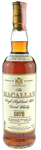 Rareza: The Macallan Whisky 0.7l año 1978, 18 años, embotellado 1996 original embotellado - Single Highland Malt Scotch Whisky