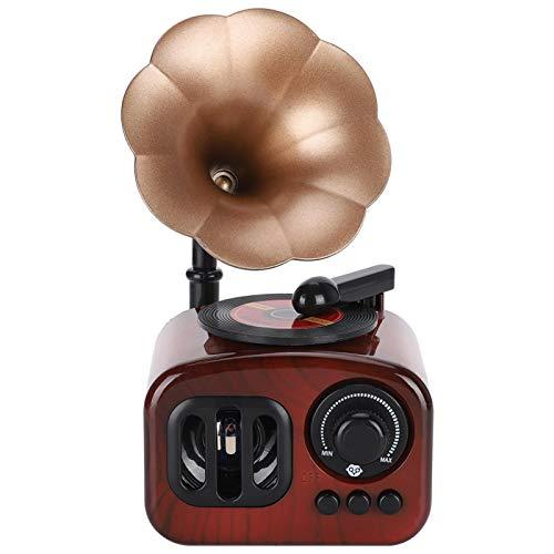 Caja de música con forma de fonógrafo vintage, cajas musicales retro con mecanismo de relojería, decoración de escritorio exquisita e innovadora para la decoración del hogar, regalo para un amigo
