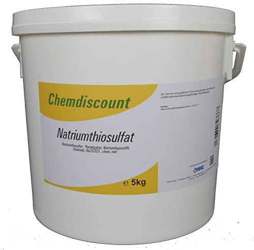 Chemdiscount 5kg Natriumthiosulfat (-penthydrat), Na2S2O3, Fixiersalz, Chem. rein