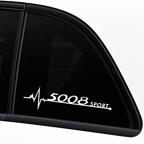 Etiqueta Engomada De La Ventana Del Coche 2pcs, Etiqueta Engomada Decorativa De Modelado, Piezas De AutomóVil, Para Peugeot 5008