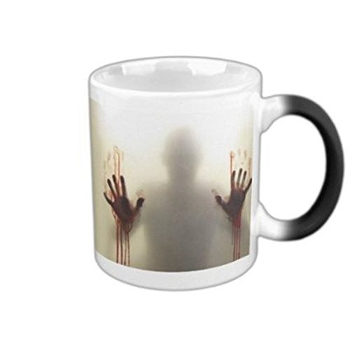 LINGSTAR The Walking Dead Keramik-Tasse mit Thermoeffekt und Zombie-Motiv