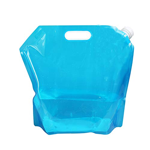adad Campinggeschirr-Wasserkanister Die Tragbare Zusammenklappbare 5L10L|Wasserspeichertasche Eignet Sich Zum Wandern Und Zelten Im Freien (Color : Blue, Size : 5L)