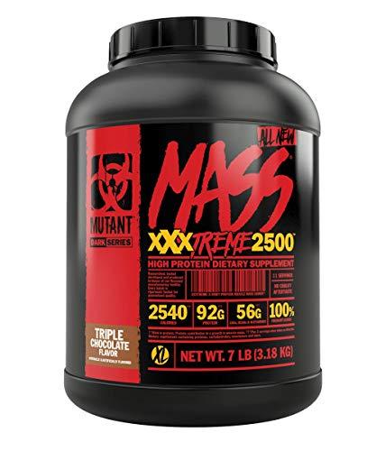 PVL Mutant Mass Xtreme 3180g Protein Pulver Muskelaufbau Extreme Gainer Extremer Gewinner (Triple Chocolate)