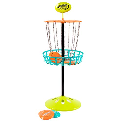 Wham-O Mini Frisbee Golf Disc Indoor and Outdoor Toy Set, White, 12 inch high (21577)