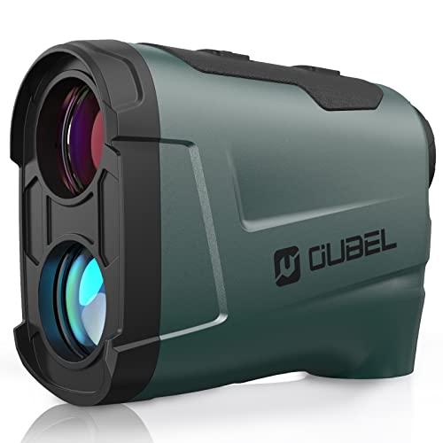 OUBEL Telemetro da Golf/Telemetro da Caccia, Telemetro Laser da 800 Yard con Funzione di calcolo della Pendenza, Blocco dell'asta della Bandiera, Vibrazione, Funzione di misurazione Continua