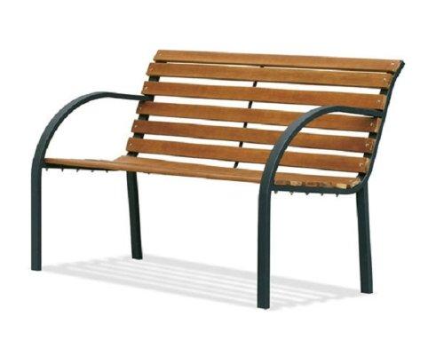 BIACCHI Trädgårdsbänk trä/stål