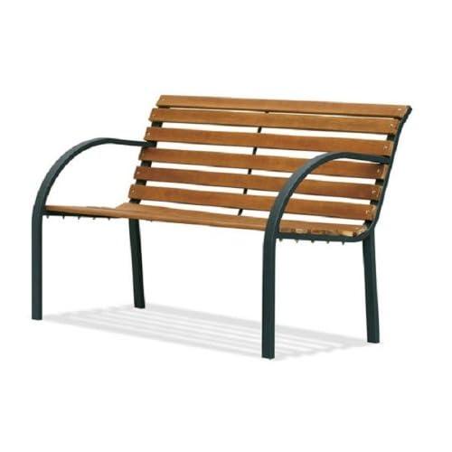 Panca parco Materiale: acciaio e legno.