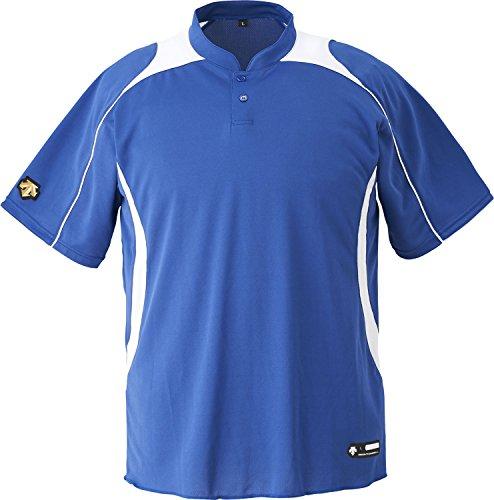 DESCENTE(デサント) 野球 立衿2ボタンベースボールシャツ ホワイト Oサイズ DB110B