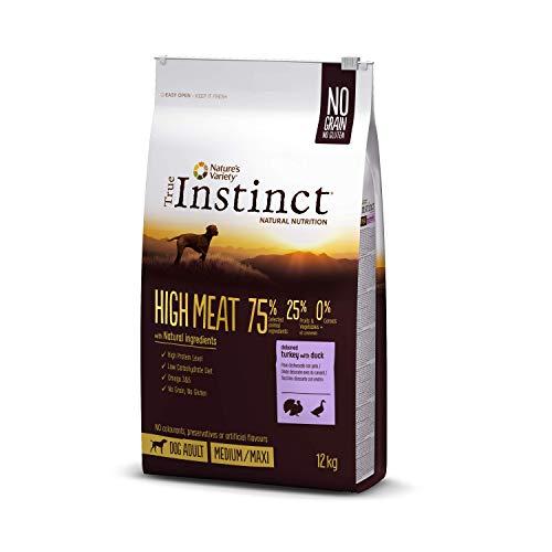 True Instinct High Meat Adult - Nature's Variety - Croquettes pour Chien Adulte avec Dinde Désossée - 12kg