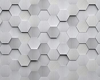 OhPopsi WALS0254 Metal Hexagons Wall Mural