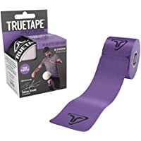 Vendas elásticas Athlete Edition de True Tape para quinesioterapia, con20 unidadesprecortadas, de 25cm x 5cm, TRUE PURPLE