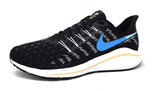 Nike Men's AIR Zoom Vomero 14 Running Shoe, Black University Blue White Psychic Blue, 7.5 UK