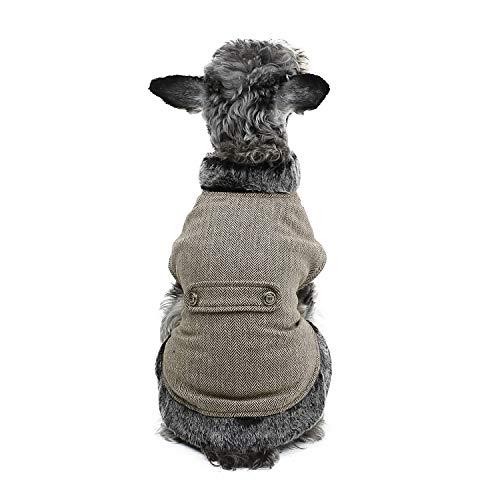 PAWZ Road Cuello de Piel sintética de Ropa para Perro pequeños, Mascota Abrigo de Invierno Super cálido y cómodo XL