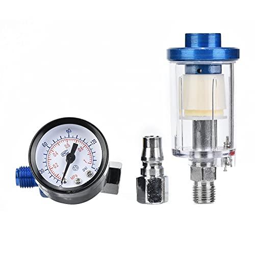 Regulador de presión de entrada de aire, agua en línea Filtro de trampa de aceite Separador Herramienta de pistola de pulverización Separador de aceite de agua Filtro de compresor de aire para herrami