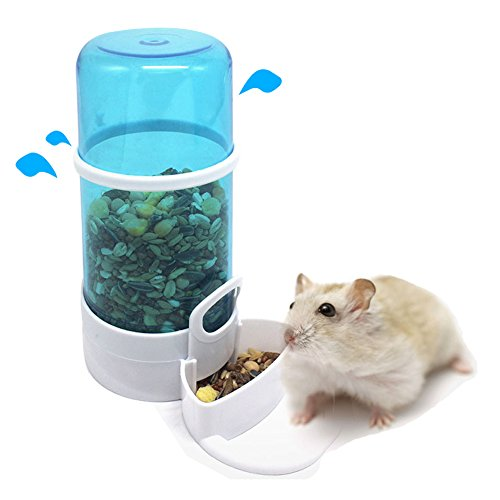 JOLIN'S SHOP Hamster Gerbil Cavy Small Animals Automatic Pet Food Water Dispenser Pet Feeder Bowl