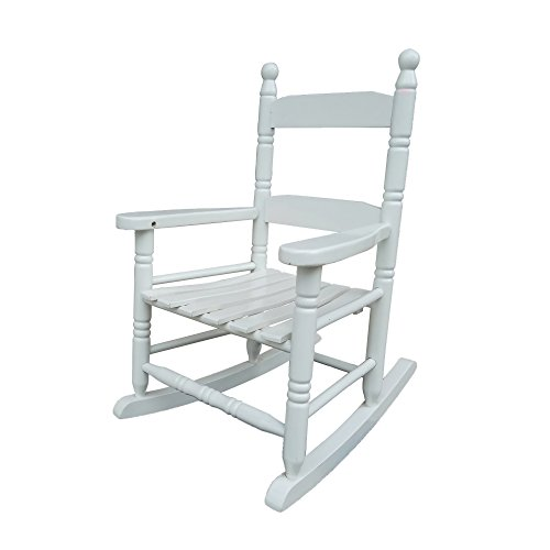 rockingrocker - K10WT White Child's Rocking Chair/Porch Rocker - Indoor or Outdoor - Suitable for 1 to 4 Years Old