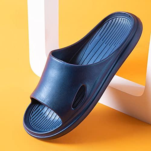 JFHZC Zapatillas de Piscina Antideslizan,Eva Summer Zapatillas para el hogar para Padres e Hijos, Desodorante y Zapatillas de baño de Secado rápido para Hombres y mujeres-35 / 36EU_Blue