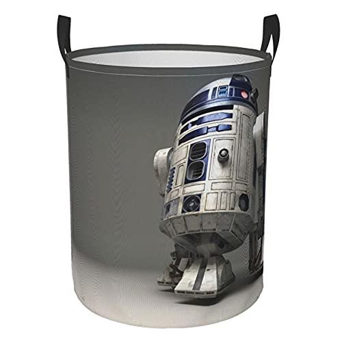 Star Robot R2 d2 WarsRound - Cesta plegable para ropa sucia, bolsa de almacenamiento impermeable y duradera para dormitorio