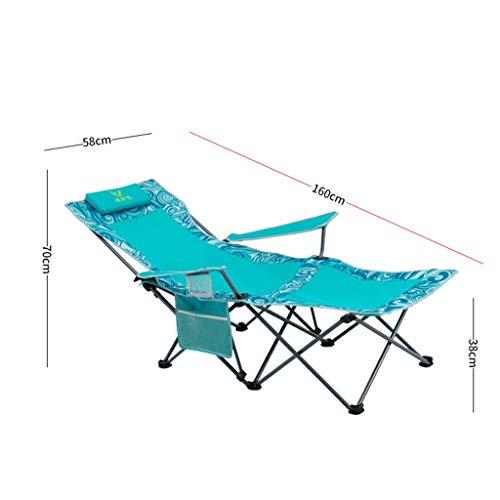Klappstuhl Mit Tasche Im Freien Camping Strand Tragbare Chaise Lounge Chair (Farbe: Blau)