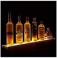 リキュールボトルディスプレイシェルフアクリルルミナスワインラック、RFリモコン付き家庭用商業レストランバー用LEDスマート調光照明付きディスプレイスタンド複数の色。, 810*110*24mm