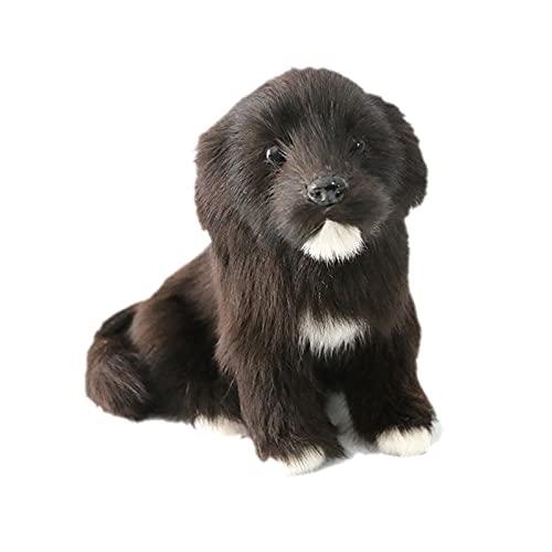 Simulado Lindo Pequeño Perro Labrador Negro Hogar Coche Escritorio Fotografía Accesorios Decoración del Hogar Escritorio Adornos Juguete Regalo, 8 Pulgadas