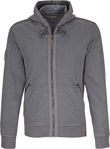 camel active Herren Hood-Jacket Sweatjacke, Grau (Dark Grey 37), Medium