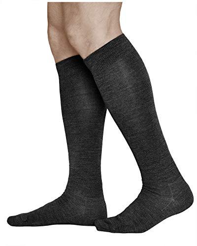 vitsocks Chaussette hiver laine MÉRINOS chaude haute Homme, longue au genou, noir, 44-46