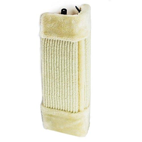 COM-FOUR® krabplank voor katten, krabplank van natuurlijk sisal met pluche en muurbevestiging, 53x25cm (01 delig - krasplank)