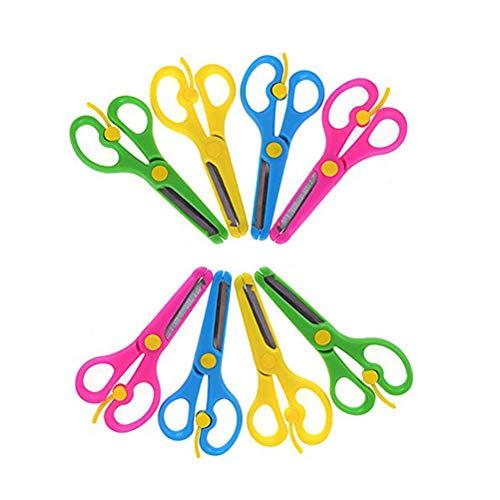 Kinnter 4/8 stuks knutselscharen set kinderschaar voorschool training ouders kindergroep snijpatroon fotovormgeving knutselen kunst craft schaar