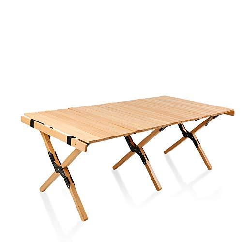 SHU XIN Table à Rouler aux Oeufs en Bois Massif Table Pliante Portable en Plein air Table Basse Table de Cuisson Pique-Nique Camping Plage Randonnée Pêche Fête de Vacances 1 pcs