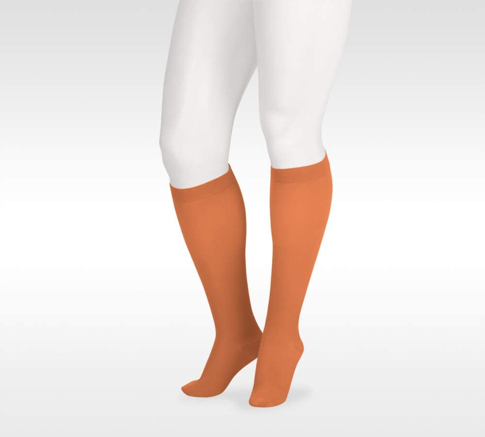 Juzo Soft 2000 15-20mmhg Knee-High Closed Toe Sock with Silicone Top Band