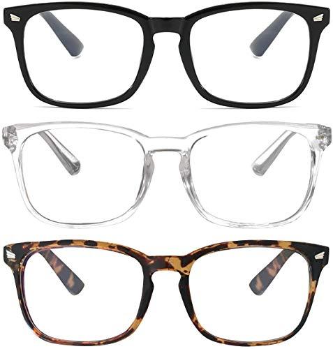 3 Pack Blue Light Blocking Glasses Stylish HD Anti Glare Vision   Unisex   Anti Blue Light HMAR...
