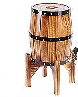 バーティカルワインバレル、オーク熟成バレルウイスキーバレルディスペンサーワインバケット保管用リークなし、5L
