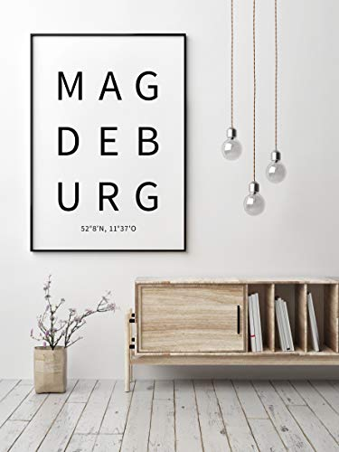 Typo Poster, city-love - Magdeburg