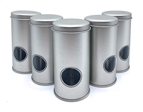 Perfekto24 Gewürzdosen silber – Gewürzstreuer mit Sichtfenster – Ideal für alle Gewürze (Luftdicht verschließbar) (5)