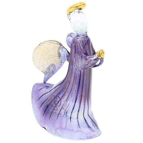 GlassOfVenice Murano Glass Angel Christmas Ornament - Blue