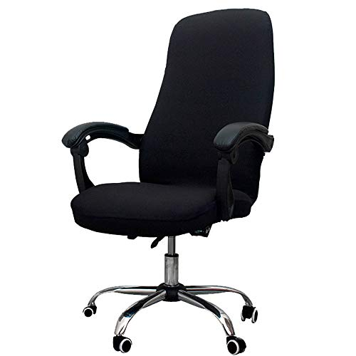 Melaluxe Office Chair Cover - Universal Stretch Desk Chair Cover, Computer Chair Slipcovers (Size: L) - Black
