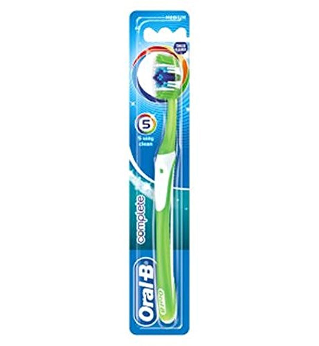 道モールス信号区別オーラルBの完全な5道クリーンなメディアの手動歯ブラシ (Oral B) (x2) - Oral-B Complete 5 Way Clean Medium Manual Toothbrush (Pack of 2) [並行輸入品]